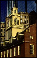 Old State House and modern buildings in downtown. Boston, Massachussets, USA
