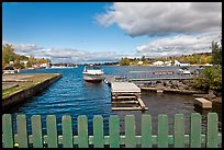 Harbor on shores of Moosehead Lake, Greenville. Maine, USA (color)
