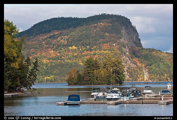 Mount Kineo seen across Moosehead Lake, Rockwood. Maine, USA (color)