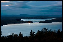 Moosehead Lake at dusk, Greenville. Maine, USA ( color)