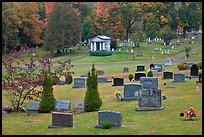 Cemetery in autumn, Greenville. Maine, USA ( color)
