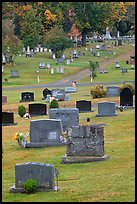 Headstones, Cemetery, Greenville. Maine, USA