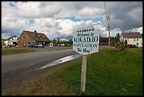 Welcome to Kokadjo sign. Maine, USA (color)