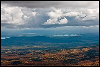 Storm clouds above autumn landscape. Baxter State Park, Maine, USA