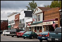 Businesses on main street, Millinocket. Maine, USA ( color)