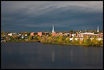 Bangor Skyline with Penobscot River. Bangor, Maine, USA ( color)