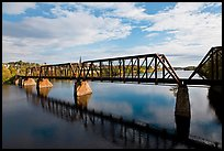 Railroad bridge over Penobscot River. Bangor, Maine, USA ( color)