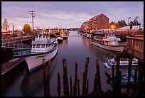 Harbor at dawn. Portland, Maine, USA (color)