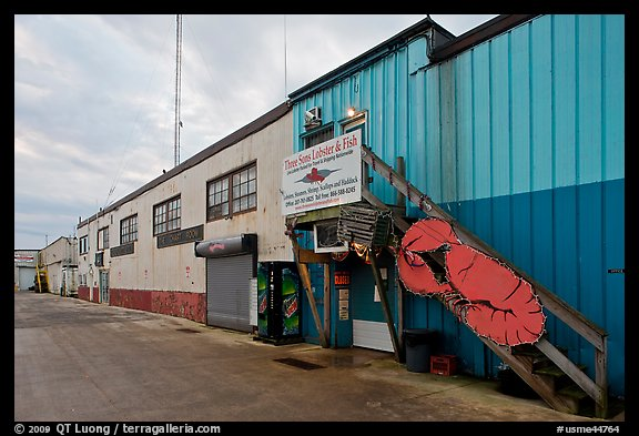 Lobster company building. Portland, Maine, USA (color)