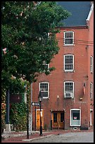 Brick building. Portland, Maine, USA (color)