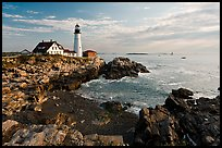 Portland Head Lighthouse, early morning. Portland, Maine, USA (color)