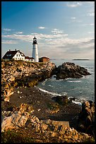 Portland Headlight, Cape Elizabeth. Portland, Maine, USA ( color)