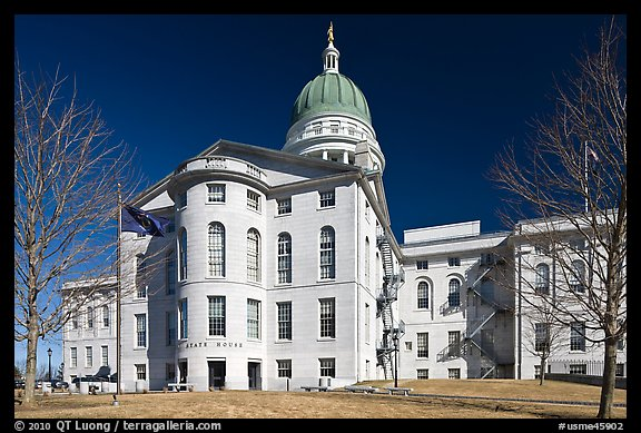 Maine Capitol. Augusta, Maine, USA (color)