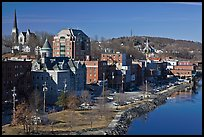 West side riverfront. Augusta, Maine, USA ( color)