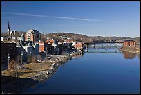 Kennebec River. Augusta, Maine, USA ( color)