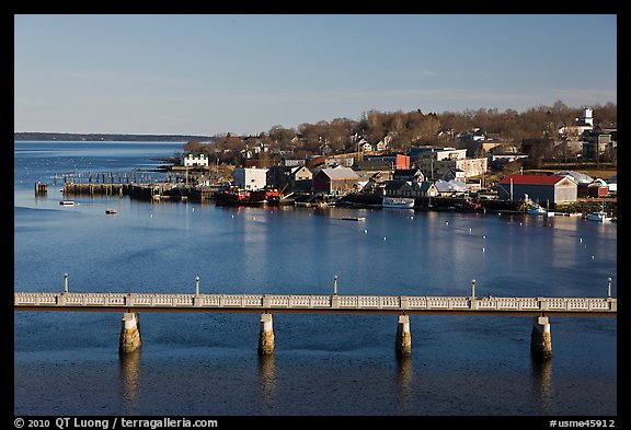 Belfast and Penobscot Bay. Maine, USA (color)