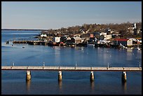 Belfast and Penobscot Bay. Maine, USA ( color)
