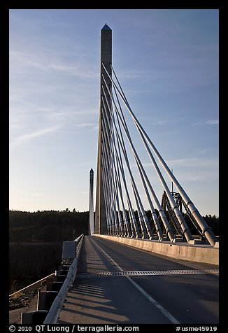 Penobscot Narrows Bridge from Verona Island. Maine, USA
