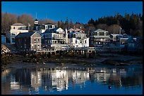 Waterfront reflections. Stonington, Maine, USA ( color)