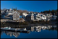 Waterfront in early morning. Stonington, Maine, USA ( color)