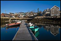 Calm harbor, early morning. Stonington, Maine, USA (color)