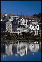 Houses and reflections. Stonington, Maine, USA ( color)