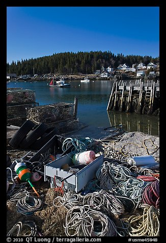 Lobster fishing harbor. Stonington, Maine, USA
