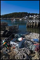 Lobster fishing harbor. Stonington, Maine, USA (color)