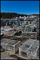 Lobster traps. Stonington, Maine, USA ( color)