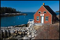 Red lobster shack. Stonington, Maine, USA