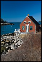 Lobstering shack. Stonington, Maine, USA