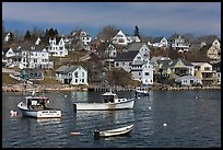 Lobstering boats and houses. Stonington, Maine, USA ( color)