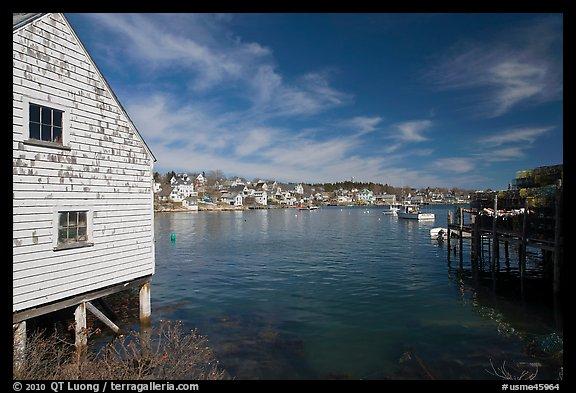 Lobstering village. Stonington, Maine, USA (color)