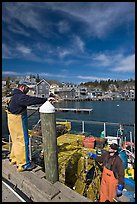 Commercial lobstermen. Stonington, Maine, USA (color)