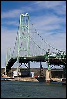 Suspension bridge between Little Deer Isle and mainland. Maine, USA ( color)