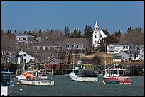 Lobster fleet and traditional village. Corea, Maine, USA ( color)