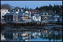 Main village waterfont at dawn. Stonington, Maine, USA ( color)