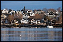 Seaport houses. Stonington, Maine, USA ( color)