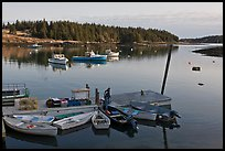 Harbor, early morning. Isle Au Haut, Maine, USA ( color)