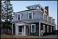 Historic house in federal style. Stonington, Maine, USA ( color)