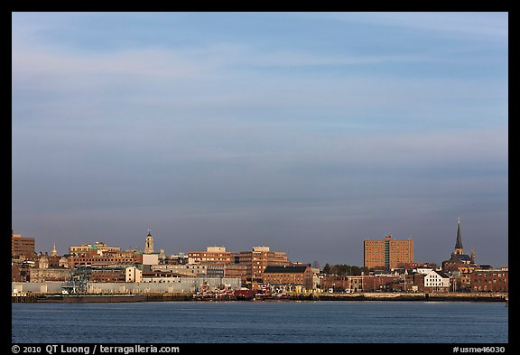 Picture/Photo: Skyline at sunrise. Portland, Maine, USA