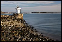 Bug Light and breakwater. Portland, Maine, USA (color)