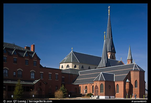 Cathedral. Portland, Maine, USA (color)
