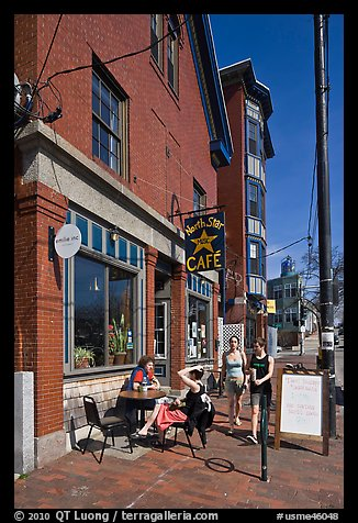 Cafe. Portland, Maine, USA (color)