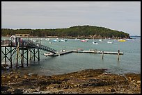 Harbor and Bar Island. Bar Harbor, Maine, USA