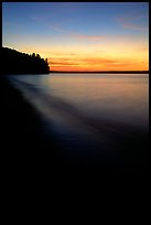 Sunset over Lake Superior, Pictured Rocks National Lakeshore. Upper Michigan Peninsula, USA (color)