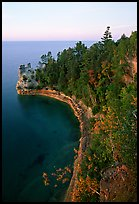 Miners castle, late afternoon, Pictured Rocks National Lakeshore. Upper Michigan Peninsula, USA ( color)