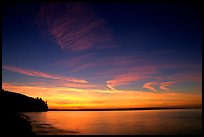 Sunset over Lake Superior,  Pictured Rocks National Lakeshore. Upper Michigan Peninsula, USA