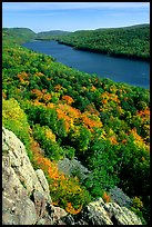 Lake of the Clouds and early fall colors, Porcupine Mountains State Park. Upper Michigan Peninsula, USA ( color)