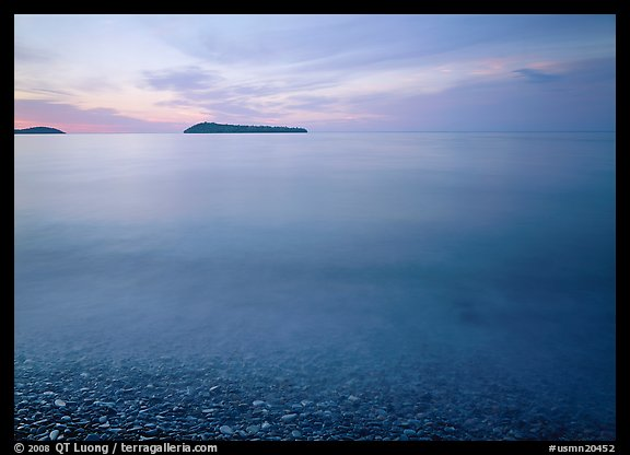 Islands in Lake Superior at dawn. USA (color)